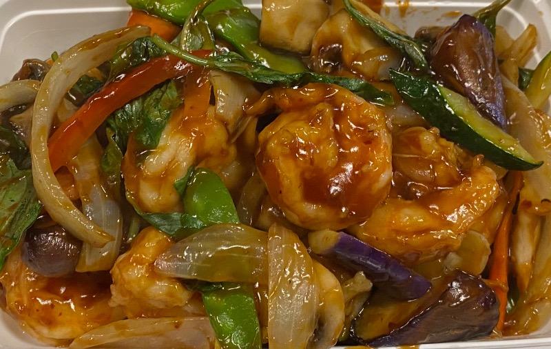 九层塔虾 Thai Basil Shrimp