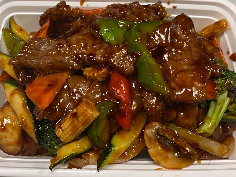 鱼香牛 Beef w. Garlic Sauce