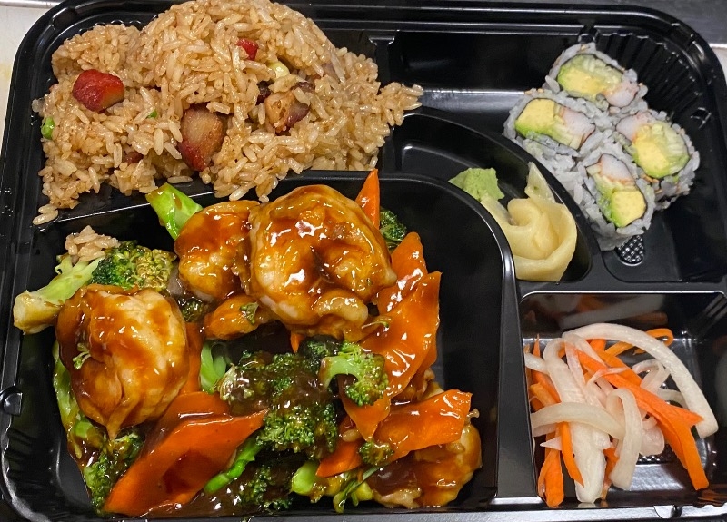芥兰虾便当 Shrimp w. Broccoli Bento Box Image
