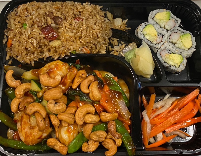 泰式腰果虾便当 Thai Cashew Nut Shrimp Bento Box Image