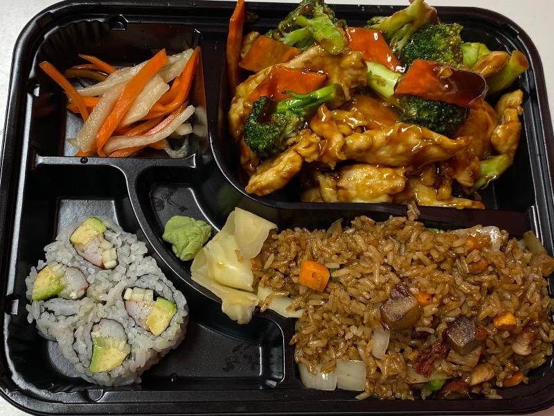 芥兰鸡便当 Chicken w. Broccoli Bento Box Image