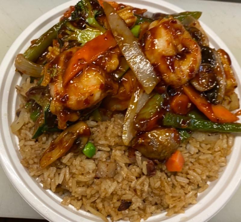 鱼香虾 Shrimp w. Garlic Sauce Image