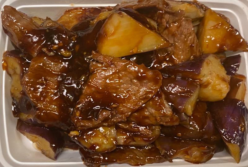 鱼香茄子牛 Beef w. Eggplant in Garlic Sauce