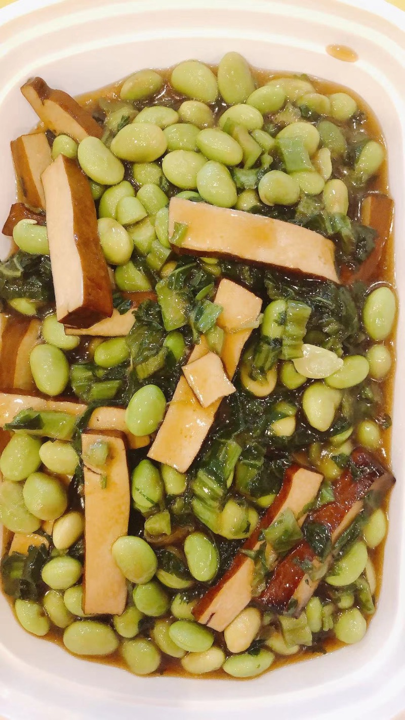 Snow Pickle w. Soy Bean & Dry Bean Curd 雪菜毛豆香干