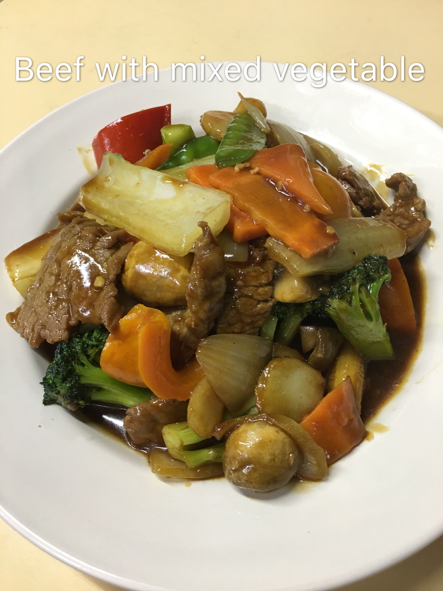 Beef with Mixed Vegetable