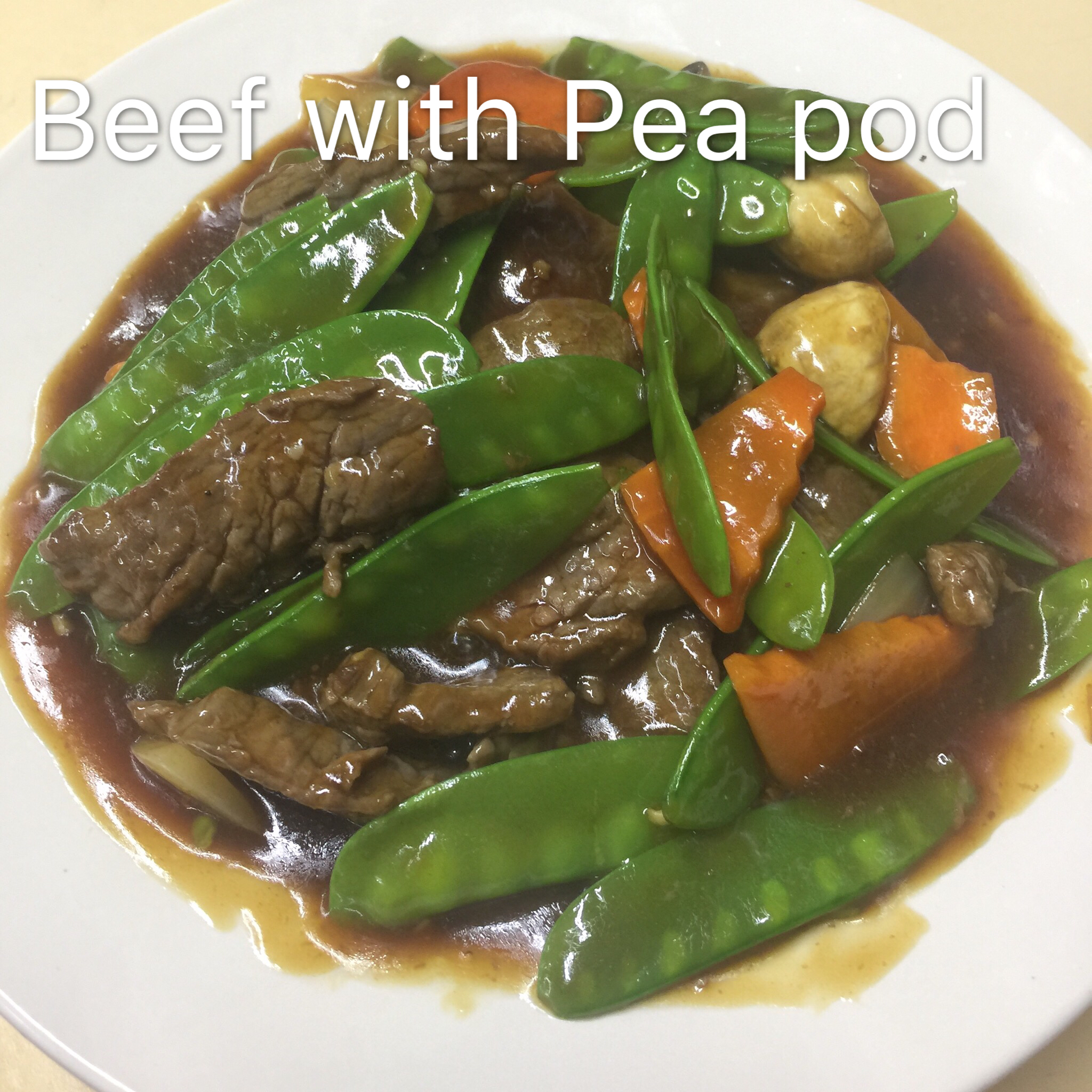 Beef with Pea Pod