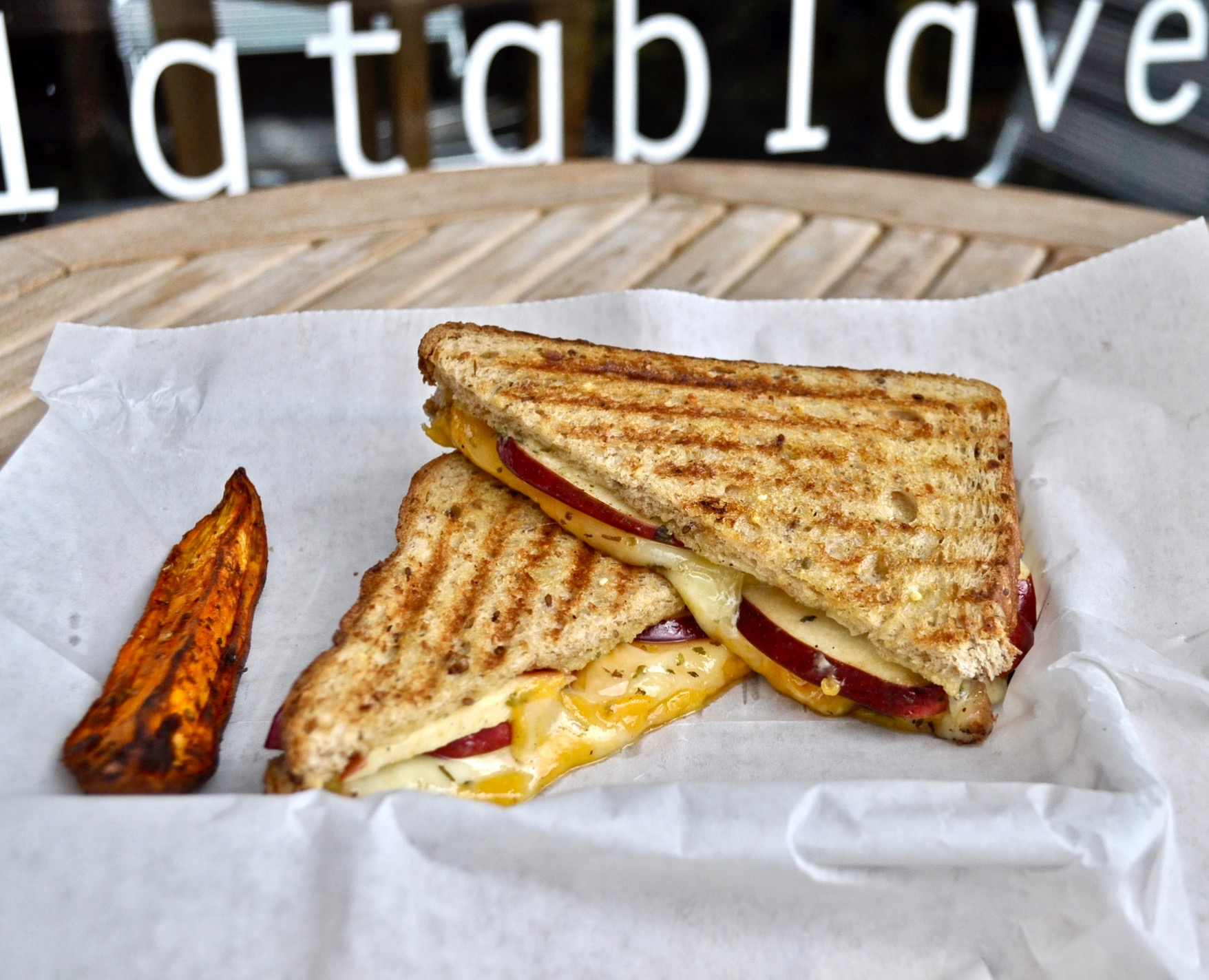 Grilled Cheese Trio with Apple Slices Image