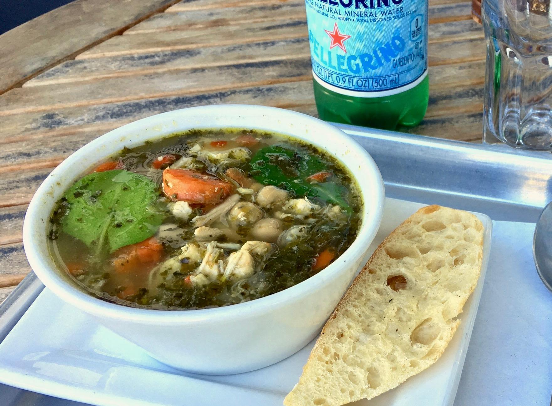 Organic Chicken Spinach + Fresh Pesto soup Image