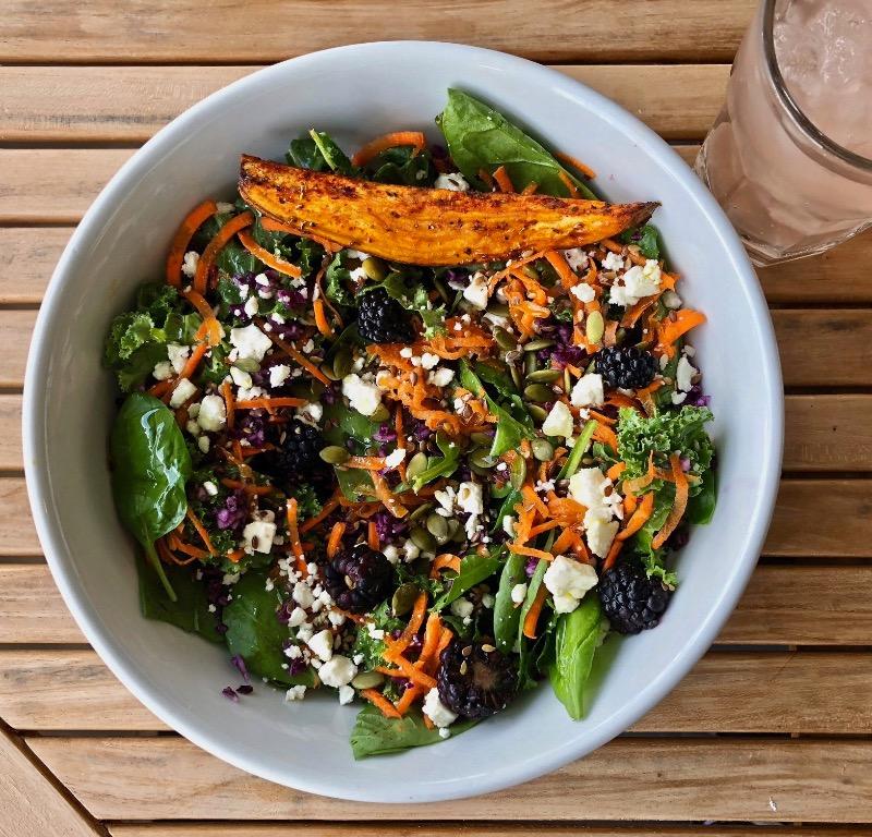 Kale Spinach Salad Image
