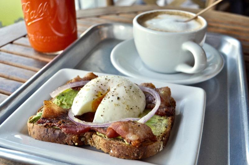 Bacon egg toast Image