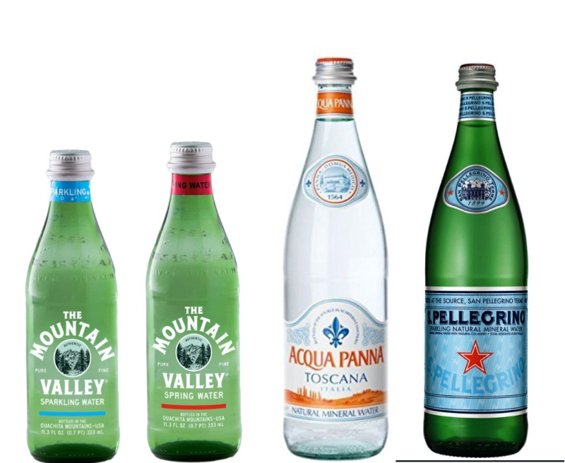 Glass bottle waters