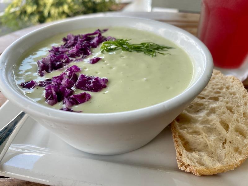 Avocado dill Gazpacho (cold soup) Image