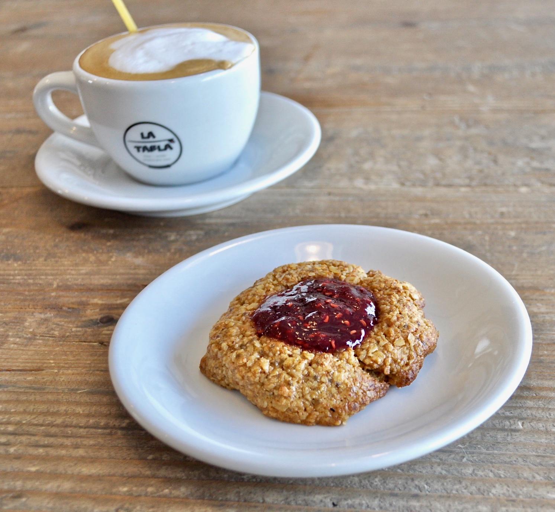 Almond butter raspberry cookies ( GF - Vegan) Image
