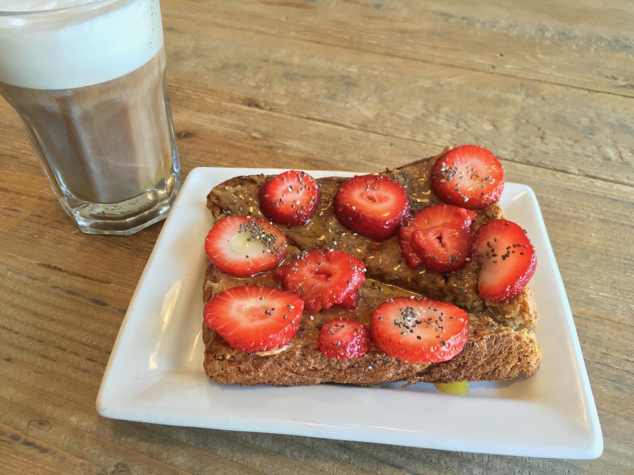 House-made Almond toast Image