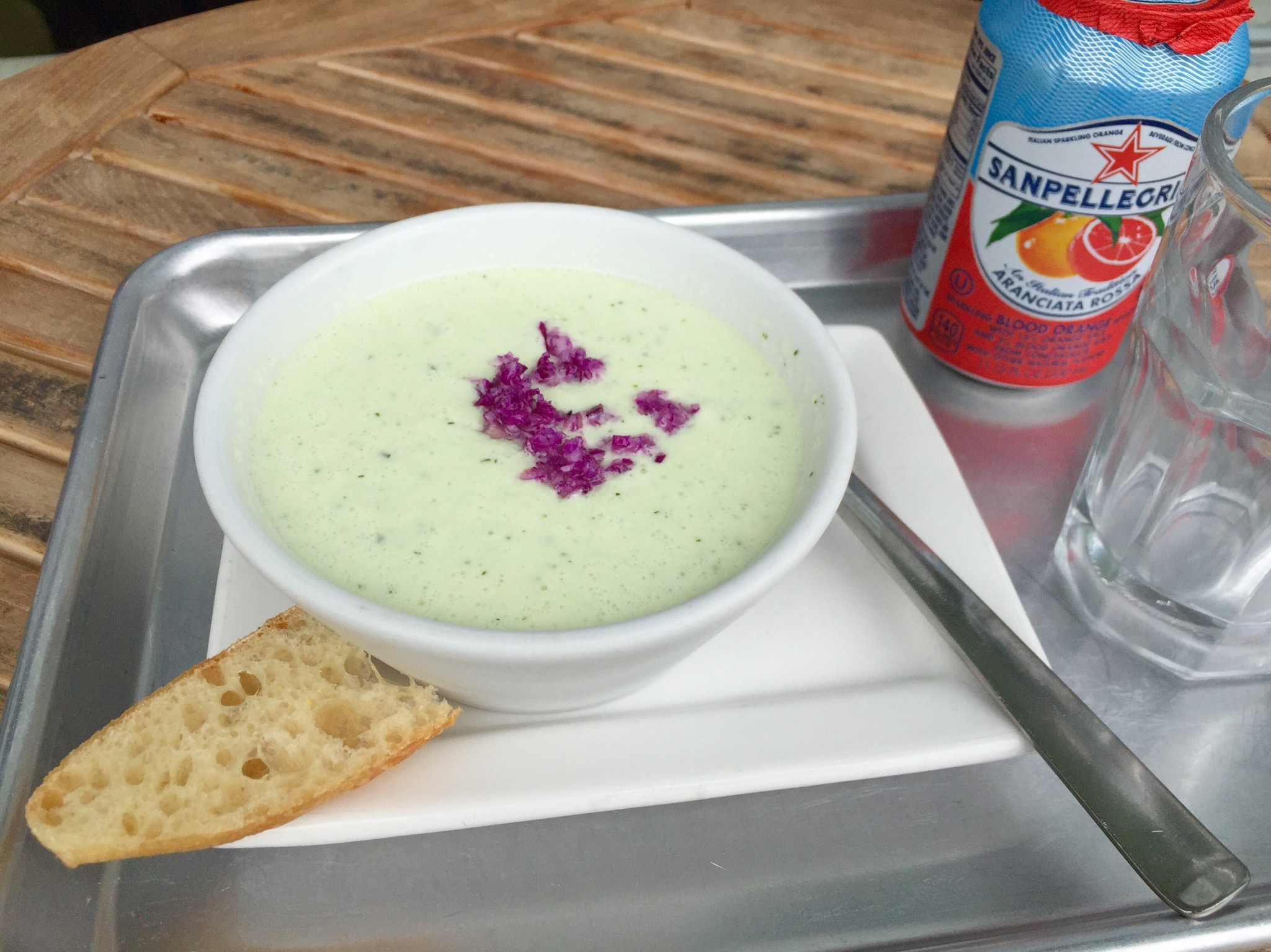 Cucumber avocado dill (cold soup)