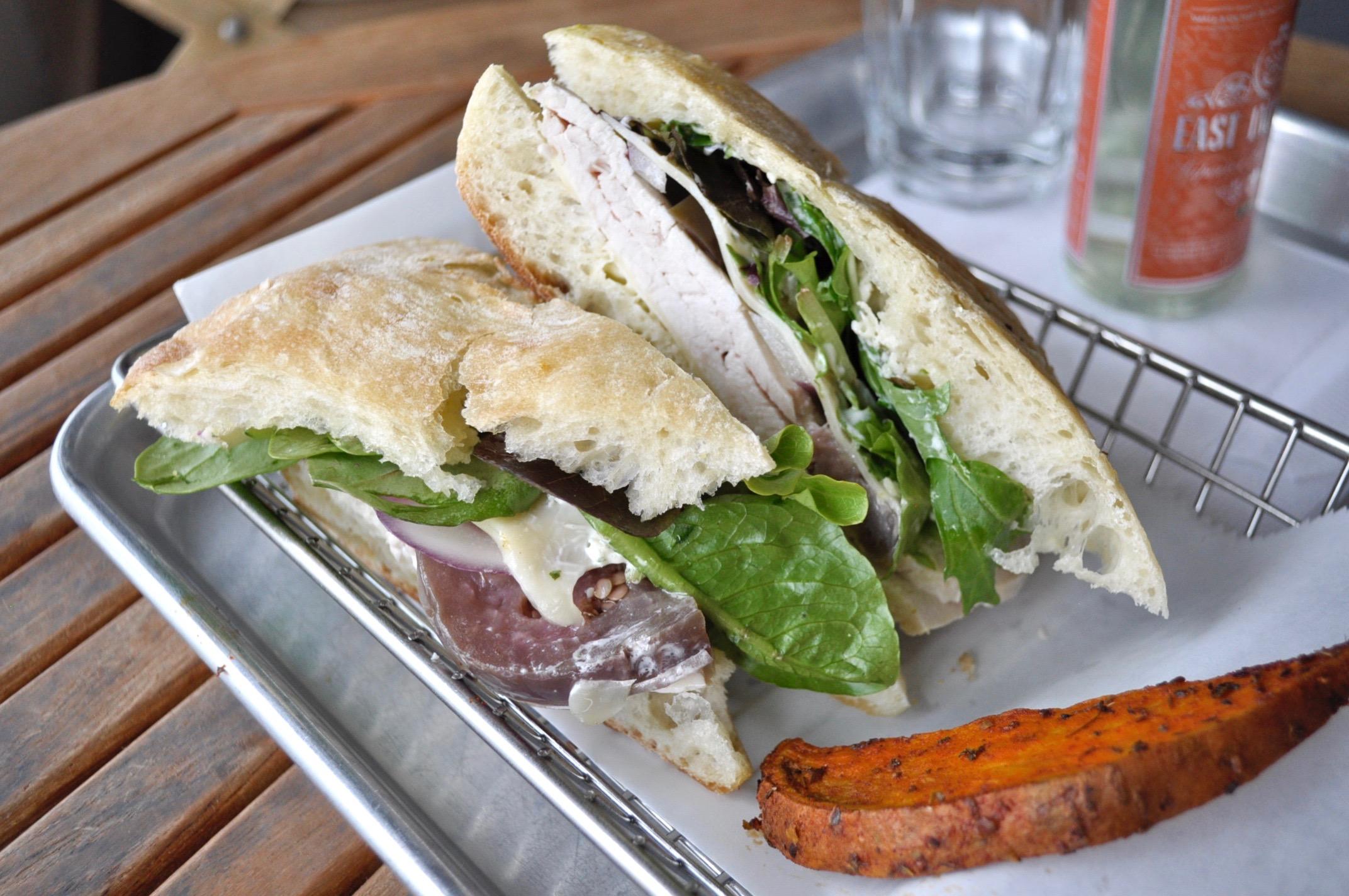 Organic Turkey - Eggplant Escabeche  sandwich Image