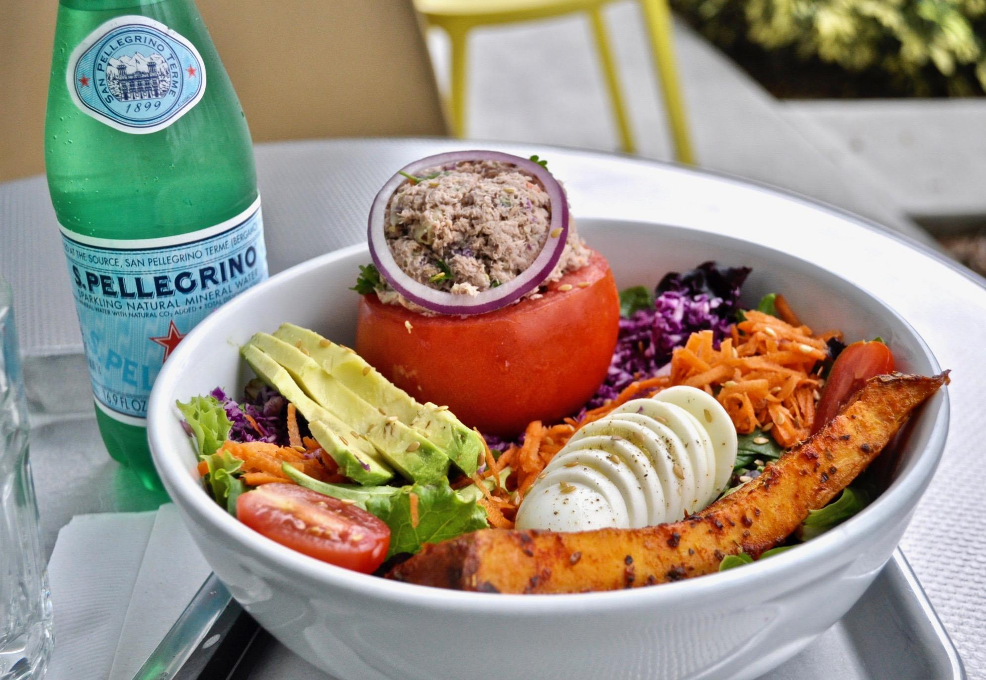 Tomato stuffed with  tuna salad Image