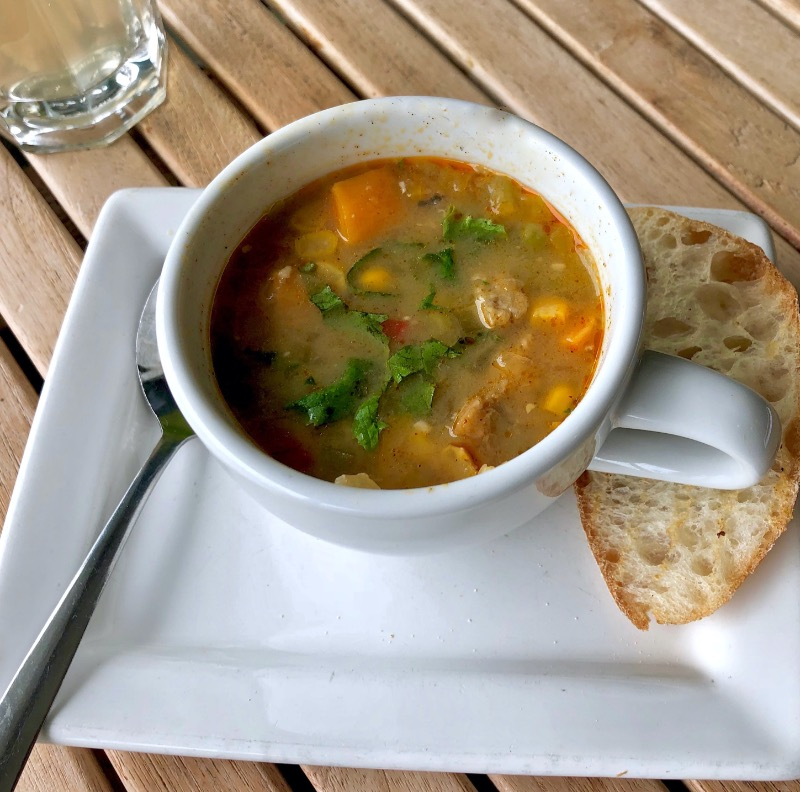 Wed - Organic chickpea miso soup with black eye peas tempeh Image
