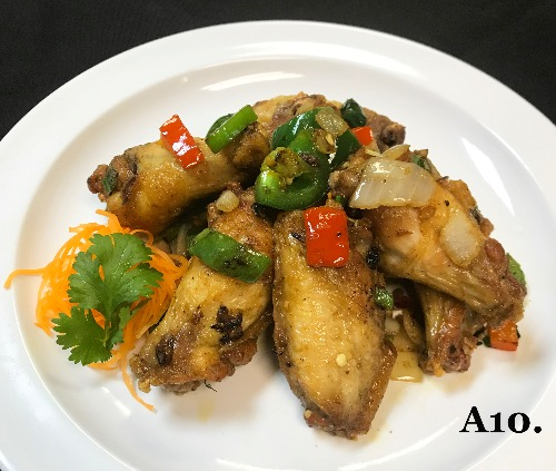 A10. Garlic Pepper Wings (8)
