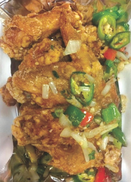A12. Garlic Pepper Chicken Wings (6)