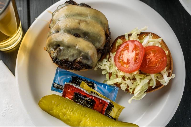 Swiss Mushroom Burger Image