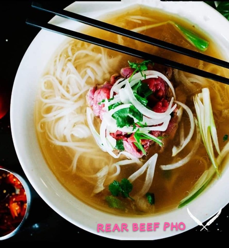 Rare Beef Rice Noodle Soup Image