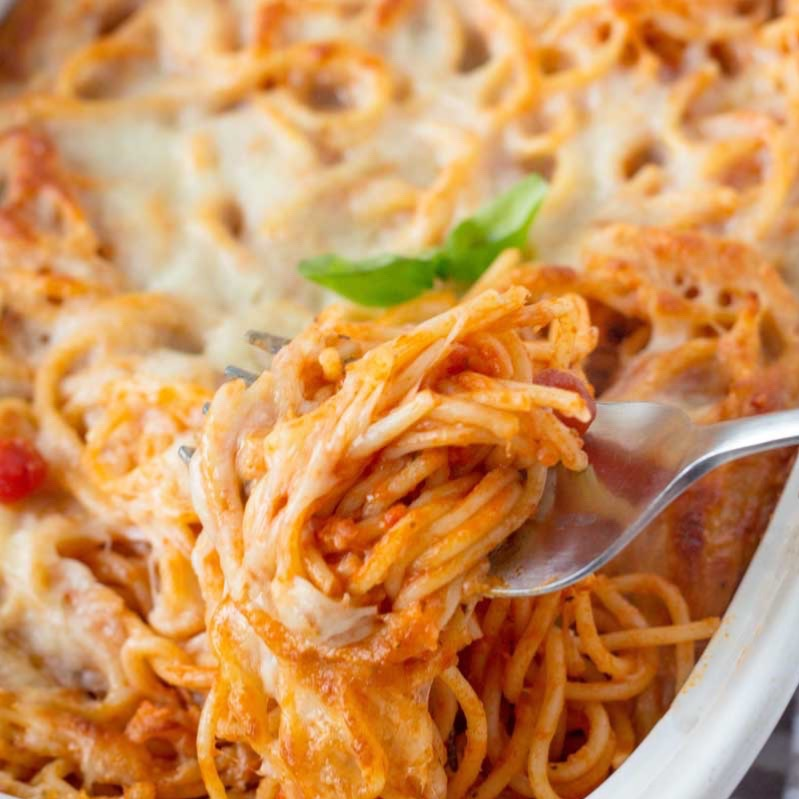 SPAGHETTI with marinara AND MEATBALLS Image