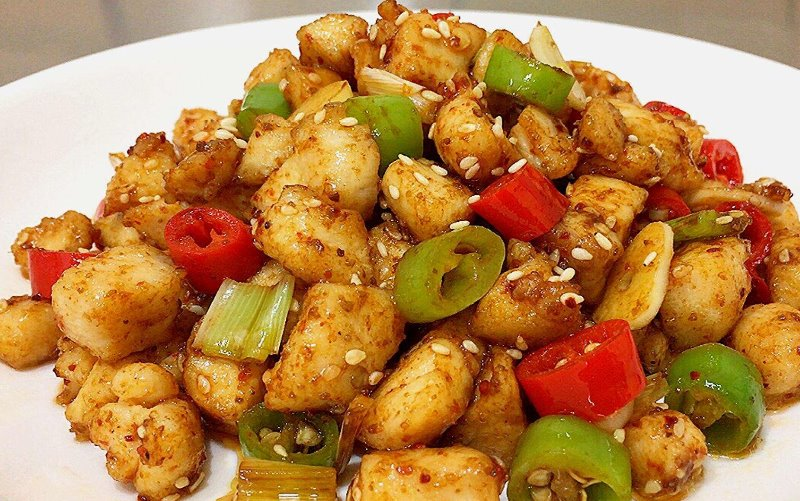 Cumin Flavored Chicken  孜然鸡丁 Image