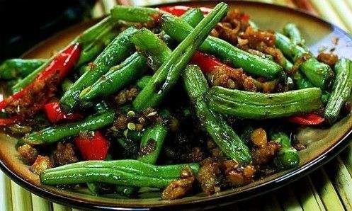 Sauteed Green Bean w. Ground Pork  干煸四季豆 Image