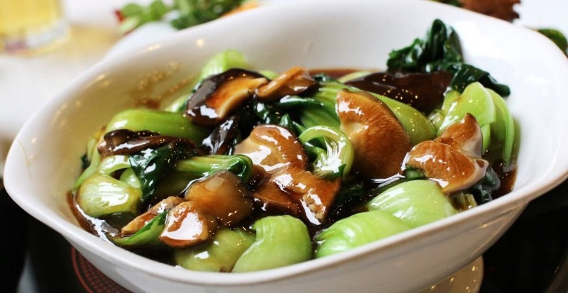 Bok Choy w. Mushrooms  油菜香菇 Image