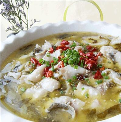Boiled Fish Fillet w. Pickled  Cabbage and Chili  酸菜鱼 Image
