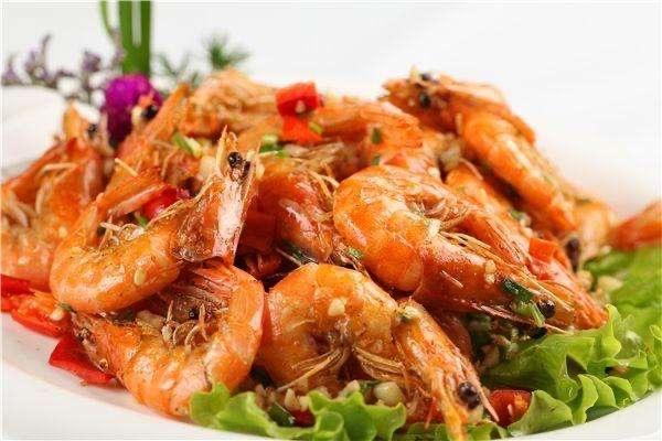 Jumbo Shrimp w. Salt and pepper  椒盐虾 Image