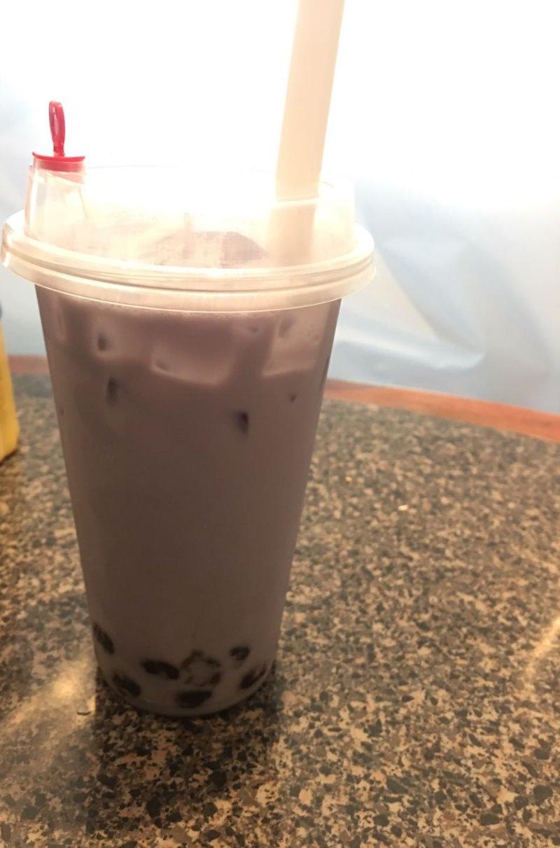 Taro Boba Tea Image