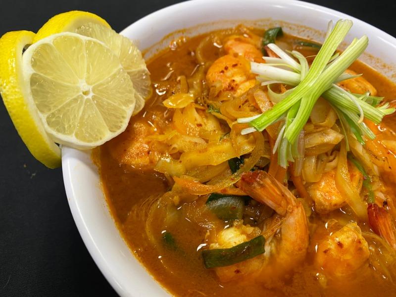 Spicy Shrimp Noodle Soup Image