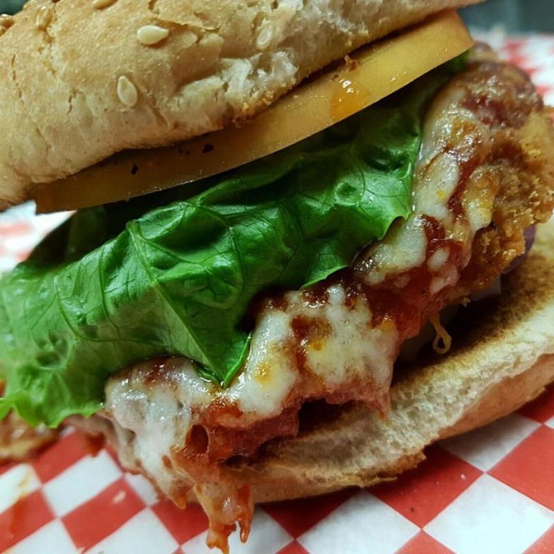 Chicken Parmigiana Burger Image