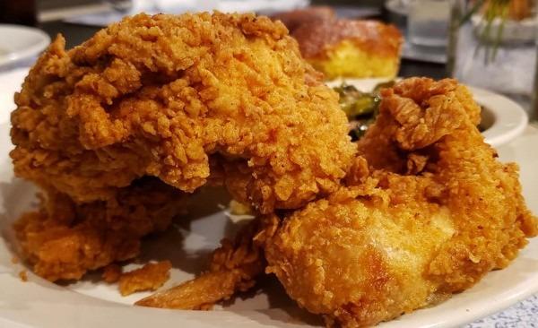 3 Piece Fried Chicken + 2 Sides & Cornbread Image