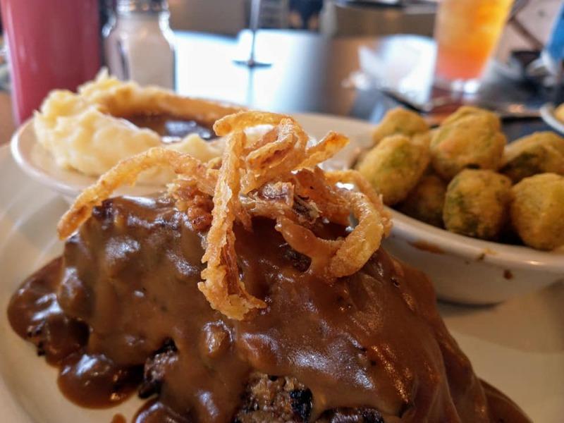 BBQ Meatloaf w/ Brown Gravy + 2 Sides & Cornbread