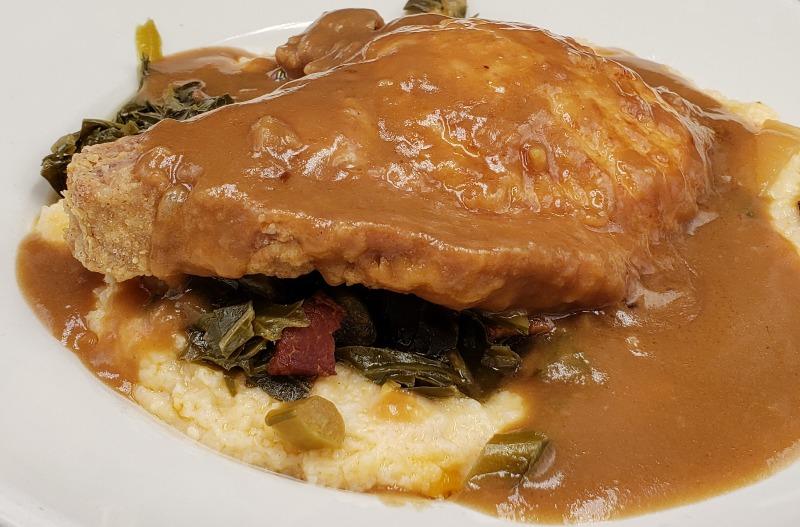 Smothered Fried Pork Chop (8 oz) Image