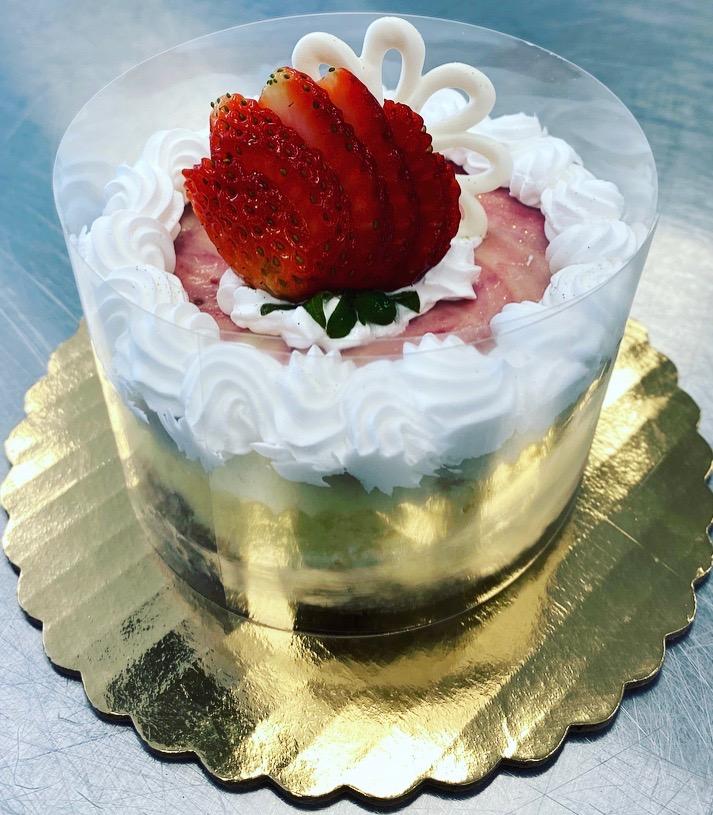 Strawberry Swirl Cheesecake (4in Round) Image