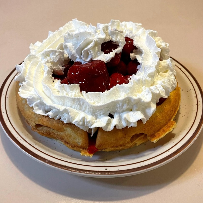 Strawberries 'n Cream Waffle Image