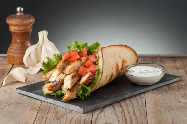 #3 Chicken Pita Meal Image