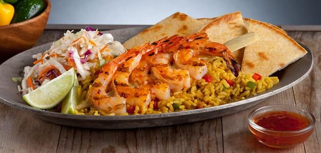 Grilled Shrimp Platter Image