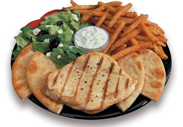 Grilled Chicken Breast Platter Image