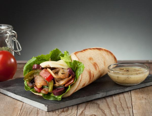 Greek Veggie Pita Image