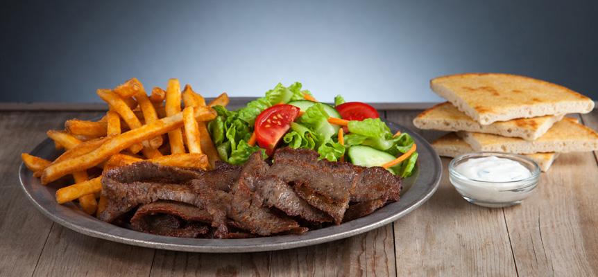 #4 Gyro Platter Meal Image