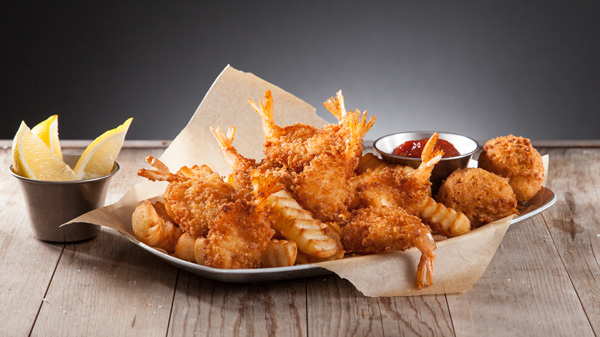 Shrimp 'n' Chips Basket Image