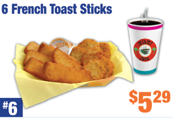 #6 French Toast Sticks Combo