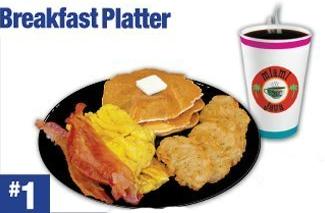 #1 Breakfast Platter Combo Image