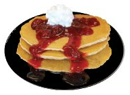 Pancakes & Strawberries Image