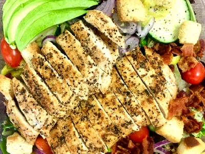Grilled Lemon Pepper Chicken Salad Image